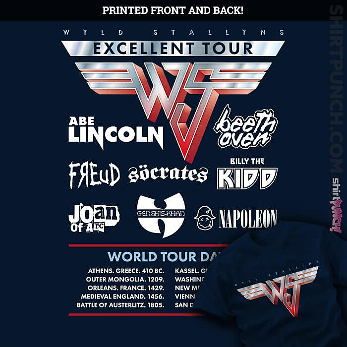 ShirtPunch: Wyld Stallyns Excellent World Tour