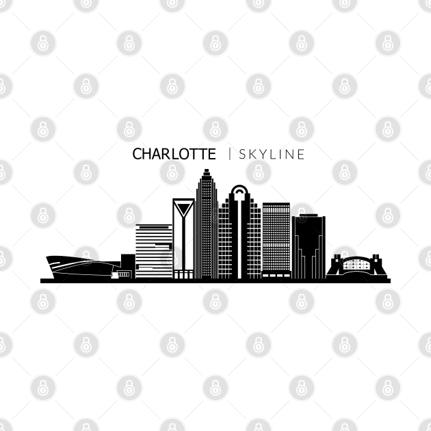 TeePublic: Charlotte City Skyline Travel