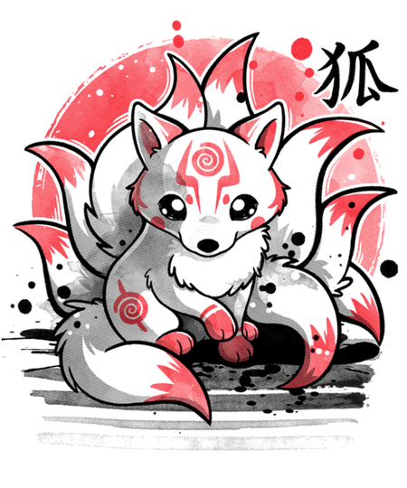 Qwertee: Nine tailed fox spirit