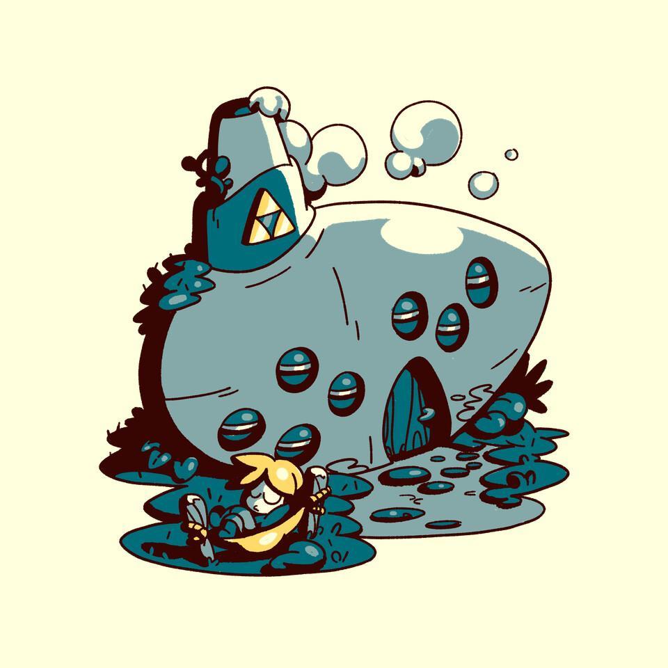 TeeFury: Ocarina Resting Cabin