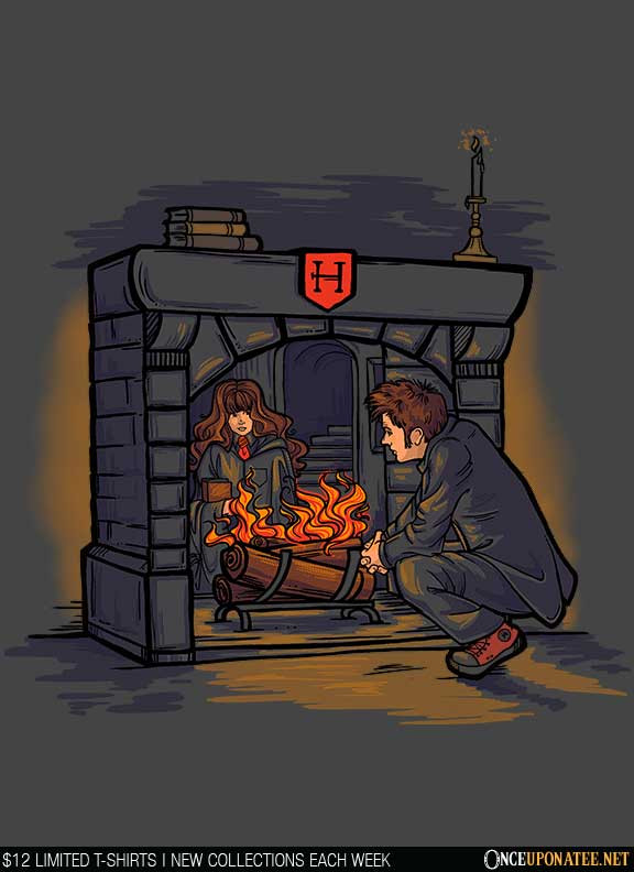 Once Upon a Tee: Witch in the Fireplace
