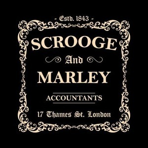 Five Finger Tees: Scrooge and Marley Accountants T-Shirt