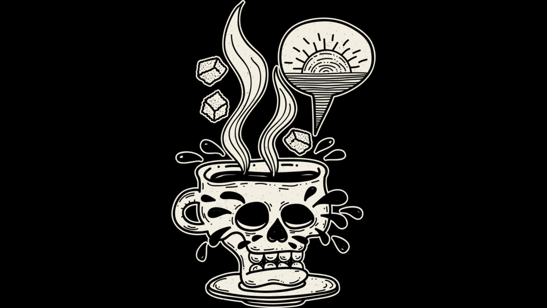 Design by Humans: Pour Me Some Coffee As Black As My Soul In The Early Morning