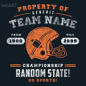 Woot!: Generic Football T-Shirt - $15.00 + Free shipping