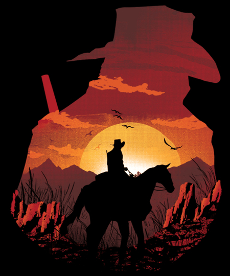 Qwertee: Red Sunset