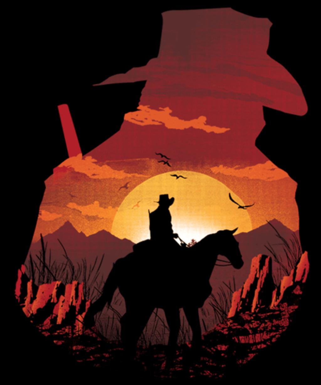 Qwertee: Red Sunset