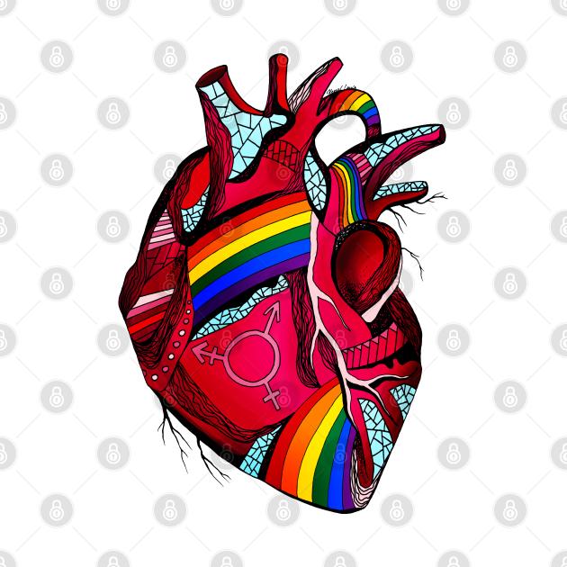 TeePublic: Pride Heart