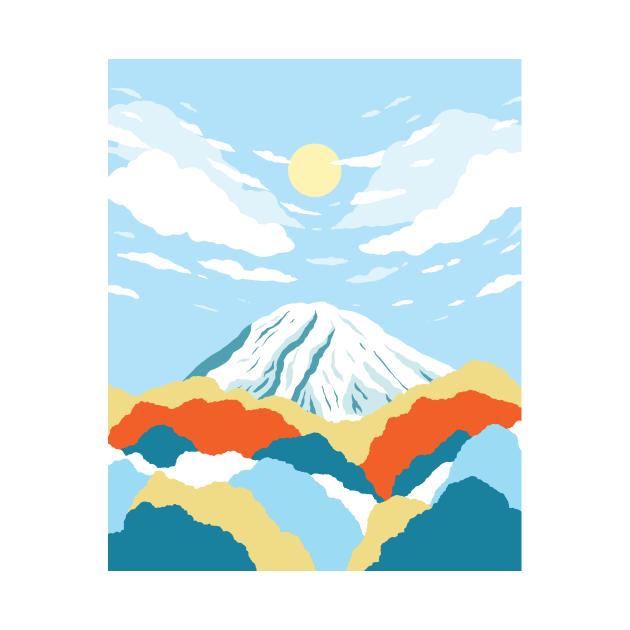TeePublic: Morning on Mount Rainier