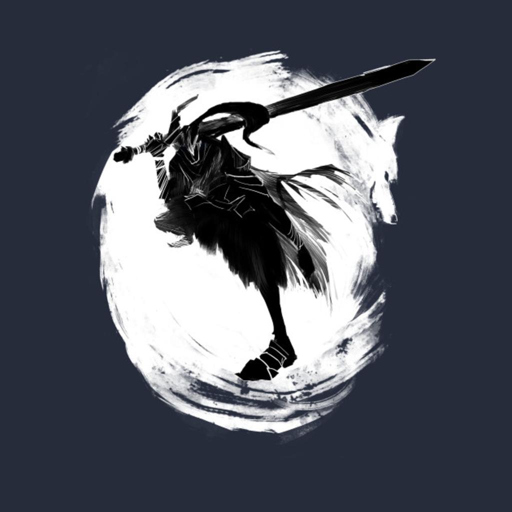 TeePublic: Knight Artorias and Sif T-Shirt