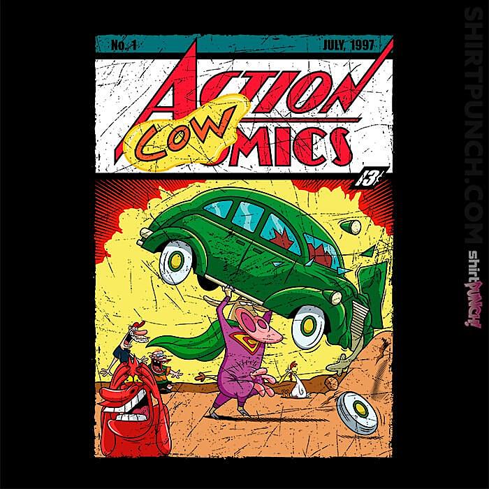 ShirtPunch: Action Cowmics
