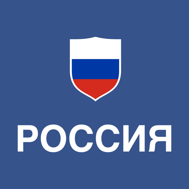 TeePublic: Russia Flag