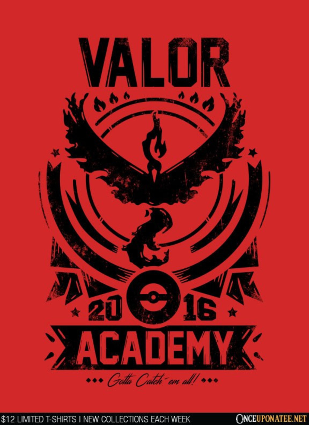 Once Upon a Tee: Valor Academy (Black)