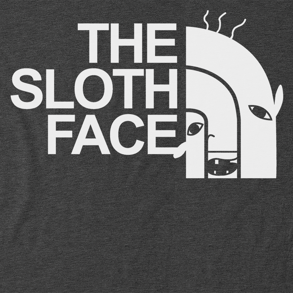 Pop-Up Tee: Sloth Face