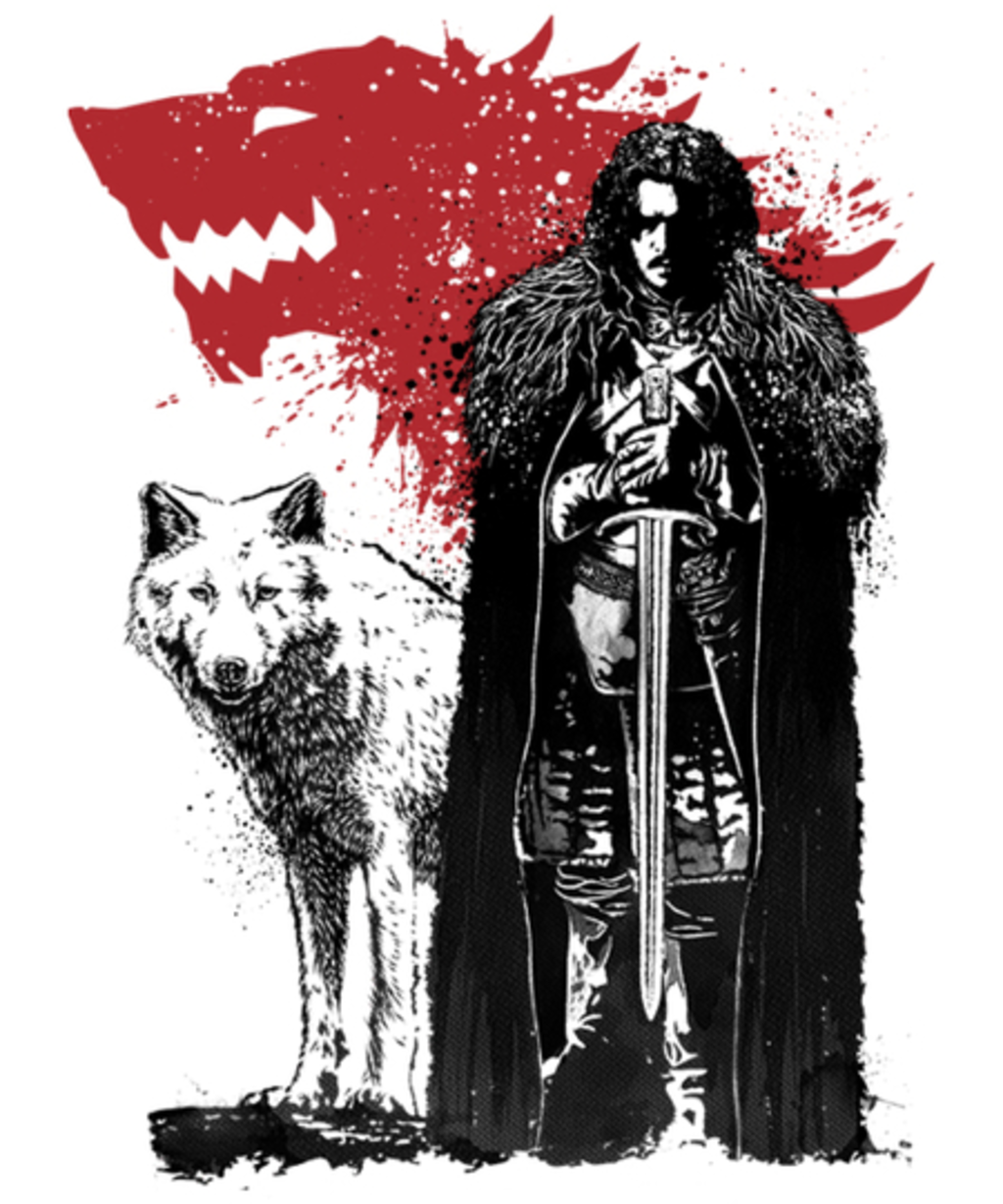 Qwertee: The King and the White Wolf
