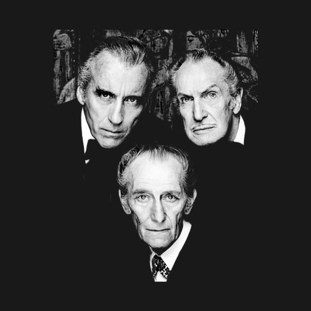 TeePublic: Christopher Lee Vincent Price et Peter Cushing Dracula Vampire Cult Film Horreur Classique T-shirt c
