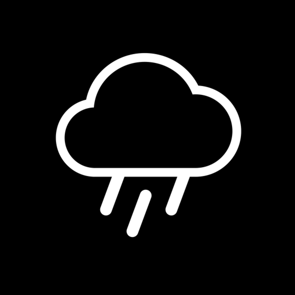 NeatoShop: Rain cloud weather minimal design