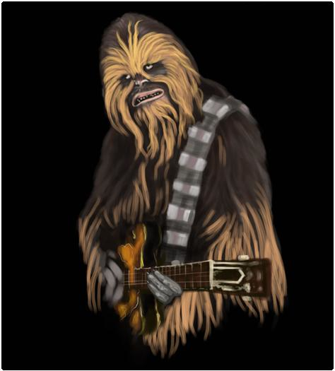 Shirt Battle: Chewbacca Rocks